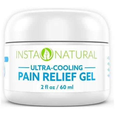 InstaNatural alivio del dolor crema con mentol y Arnica - Medicación de refrigeración Gel de espalda las rodillas los codos lo