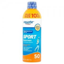 equate Deporte protector solar en spray continuo de amplio espectro valor de tamaño SPF 50 10 fl oz