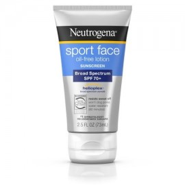 Neutrogena Deporte último cara sin aceite loción de protección solar Spf 70 - 2.5 Fl. Onz.