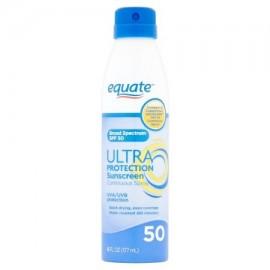 equate Ultra protección solar rociado continuo SPF 50 6 fl oz