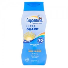 Bayer Coppertone Ultra Guardia protector solar de amplio espectro SPF 70 8 fl oz