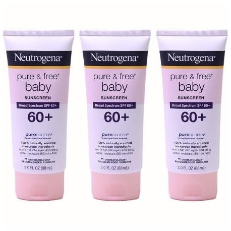 Neutrogena Pure -amp- bebé libre de protección solar SPF 60- 30 onzas líquidas