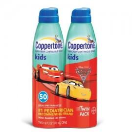 Coppertone ® Kids Pack doble de amplio espectro SPF 50 de protección solar en spray continuo 2-6 fl. onz. Latas de aerosol
