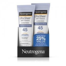 Neutrogena Ultra Sheer Dry-Touch Protector solar de amplio espectro Spf 45 3 Fl. Oz. UE 2