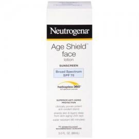 Neutrogena Edad escudo antioxidante cara loción de protección solar de amplio espectro Spf 70 protector solar libre de aceite
