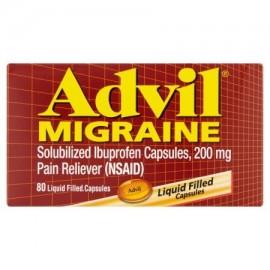 Advil Cápsulas rellenas migraña ibuprofeno Analgésico líquido 200 mg 80 ct