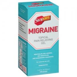 Stopain migraña tópica para aliviar el dolor de gel 1.62 fl oz