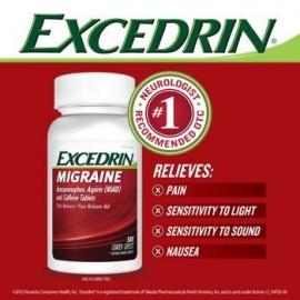 La migraña Analgésico - ayuda - 300 Comprimidos recubiertos Excedrin migraña Analgésico - ayuda - 300 Cápsulas recubiertos