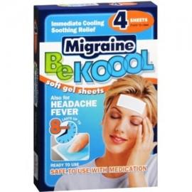Be Koool Hojas de migraña Soft gel para Adultos 4 Cada (Pack de 4)