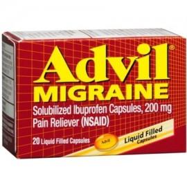 Advil Migraña 200 mg rellena de líquido Capsules 20 ea (Pack de 4)