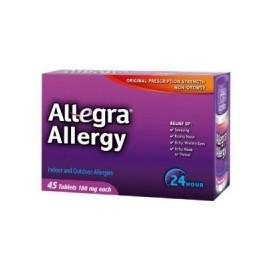 Allegra para adultos contra las alergias -180 mg 45 caps