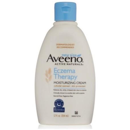Aveeno activo Naturals Eczema Terapia Hidratante Cream 12 oz (Pack de 3)