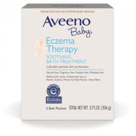 Aveeno bebé Eczema terapia calmante Tratamiento del baño por irritaciones de la piel 5 Conde
