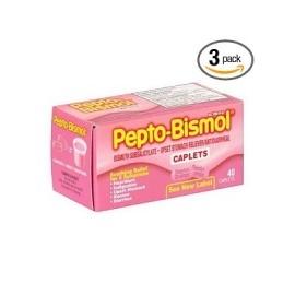 Pepto Bismol (3 cajas de 40 capsulas)