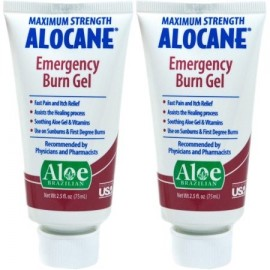 Alocane Emergencia Maximum Strength Burn del gel 25 onzas fluidas 2 recuento