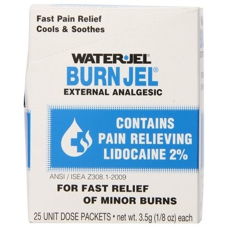 Jel agua primeros auxilios Burn Relief Burn Jel 10 de recuento