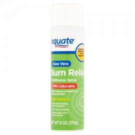 equate Burn Relief rociado continuo 6 oz