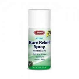 Leader Burn Relief Spray con lidocaína 45 oz