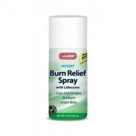 Leader Burn Relief Spray con lidocaína 45 oz