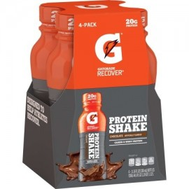 Gatorade Recuperar Batido de proteínas 20 gramos de proteína chocolate 11.16 oz 4 Ct
