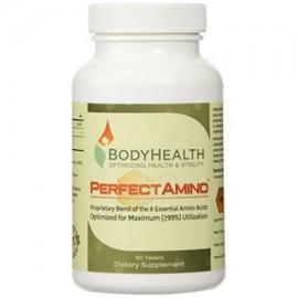 PerfectAmino (150 tabletas) 8 aminoácidos esenciales tabletas con BCAA por BodyHealth TM vegano proteína de cadena ramificada