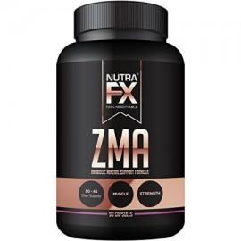 NUTRAFX ZMA 90 Cápsulas Beneficios post entrenamiento Suplemento crecimiento muscular la fuerza y el sueño