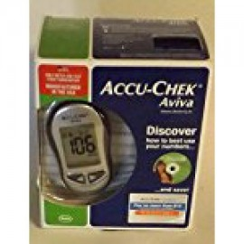 Accu-Chek Aviva Control de la diabetes Kit - Sistema medidor con diez tiras de prueba (nuevo diseño)