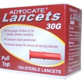 4 Paquete de lancetas del abogado de 30G para la diabetes Blood pruebas de glucosa en diabéticos 100 Cada