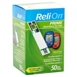 ReliOn tiras reactivas de glucosa Prime Blood 50 Ct