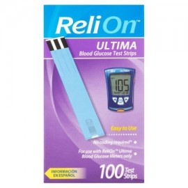 ReliOn Strips Ultima prueba de glucosa 100 Ct
