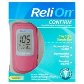 ReliOn Confirmar medidor de glucosa sanguínea Rosa