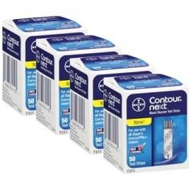 Bayer Contour Siguiente Tiras de Prueba 4 cajas de 50