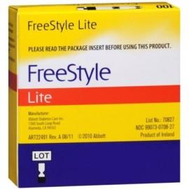 Freestyle Lite de prueba de glucosa en sangre de las tiras 100 Cada (paquete de 6)