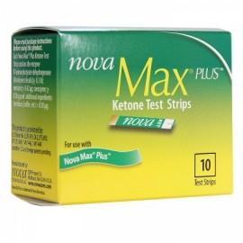 Nova Max Plus de prueba de cetonas en sangre tiras Caja de 10