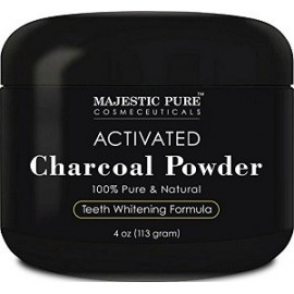 MAJESTIC PURE CHARCOAL POWDER BLANQUEAMIENTO DENTAL 113 GRAMOS