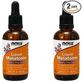 NOW FOODS MELATONIN 3 MG MELATONINA LIQUIDA 2 FRASCOS 60 ML