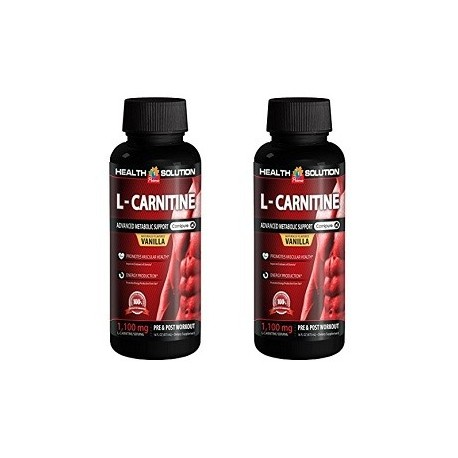 L CARNITINE POST WORKOUT SUPLEMENTO ENERGETICO 2 FRASCOS X 1100 MG
