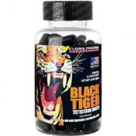 BLACK TIGER TESTOSTERONE BOOSTER MAX POTENCIA MUSCULAR 100 CAPS