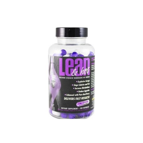 LEAN AND HOT 27 MG EFEDRA 100 CAPSULAS