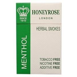 HONEYROSE MENTHOL NICOTINE FREE 20 CIGARRILLOS