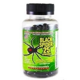 BLACK SPIDER 25 MG EPHEDRA 100 CAPSULAS