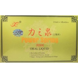 GINSENG POWER SPRING 6 BOTELLAS DE 10 ML