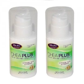 Life Flo Salud - DHEA Plus altamente absorbente Crema Corporal 2 oz (57 g) - 2 paquetes