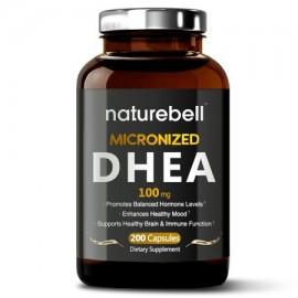 Naturebell DHEA 100 mg 200 cápsulas poderosamente ayuda al metabolismo saludable función de la libido y los niveles de energí