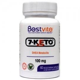 7-Keto DHEA 100 mg (60 cápsulas vegetarianas) - No hay estearatos