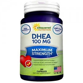 Las píldoras de DHEA (200 Caps) los niveles de hormonas equilibrada por Asquared Nutrición