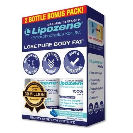 Lipozene (Amorphophallus Konjac) Weight Loss Pills Maximum Strength Bonus Pack Ctules 60 Ct