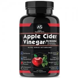 Angry Supplements vinagre de sidra de manzana con las píldoras de pérdida de peso Gymnema 60 Ct