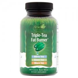 Irwin Naturals píldoras de la pérdida Triple Tea Fat Burner de peso con té verde geles suaves líquido 75 Ct