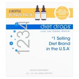 Creative Bioscience 1234 Diet Drops supresor del apetito Pérdida de Peso Suplemento 2 Fl oz 2 Ct
